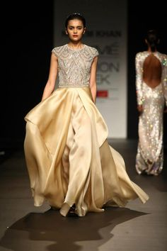 Gown by Naeem Khan LFW 2013