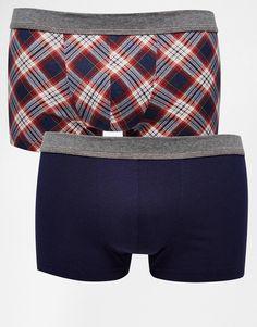 Unterhose von Esprit Stoff mit hohem Baumwollanteil elastischer Bund einfarbig und kariert figurbetontes Design Maschinenwäsche 95% Baumwolle, 5% Elastan Zweierset