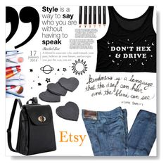 """""""Don't hex and drive"""" by selmagorath ❤ liked on Polyvore featuring Prada"""