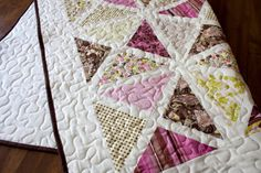 Pink, White, and Brown #Quilt (pretty colors, doesn't link to anything)