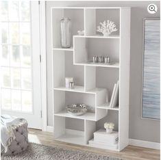 Mainstays 8 Cube Bookcase, White or Espresso White Bookshelves, Cube Bookcase, Bookcase Storage, White Cube Shelves, Storage Drawers, Floating Shelves, Living Room Decor, Bedroom Decor, Bookcase Organization