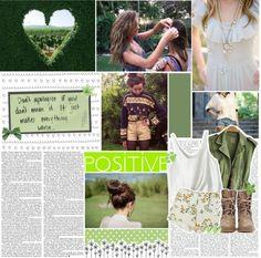 """""""Be Positive."""" by heyyitskim ❤ liked on Polyvore"""