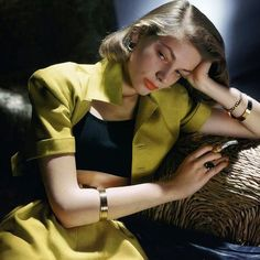 """summers-in-hollywood: """"Lauren Bacall posing for Vogue, Photo taken by John Rawlings """" Beautiful photo of Lauren Bacall. Hollywood Glamour, Hollywood Stars, Hollywood Actresses, Classic Hollywood, Old Hollywood, Actors & Actresses, Hollywood Icons, Lauren Bacall, Diana Vreeland"""