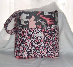 Elephant Hippo Giraffe Diaper Bag by lyssaloohandbags on Etsy, $45.00