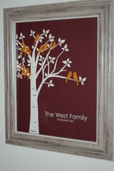 Christmas gift for parents or grandparents - family tree print