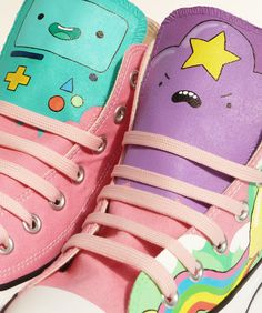 Adventure Time Converse - Pony Chops - http://pony-chops.blogspot.co.uk/2013/06/adventure-time-high-tops.html