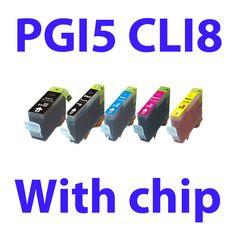 5pk compatible catridge PGI 5BK CLI 8BK/C/M/Y for iP4300 4500 5200 R MP500 600 800