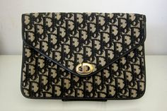 80s Vintage CHRISTIAN DIOR Monogram Clutch, I bought the same clutch in a thrift store under $4!