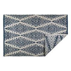 Dii indoor flatweave cotton handloomed yarn dyed woven reversible area rug for bedroom, living room, kitchen, diamond navy blue Striped Rug, Light Blue Area Rug, Outdoor Rugs, Beige Area Rugs, Hand Weaving, Navy Blue, Indoor, Cotton, Living Room