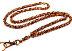 Reduced 25%  Lanyard with Handcrafted Byzantine by byBrendaElaine