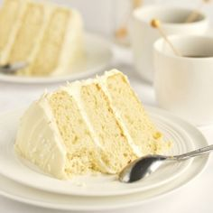 BAKED bakery's The Whiteout Cake: Soft vanilla cake filled & frosted with creamy, rich white-chocolate frosting and white sprinkles.