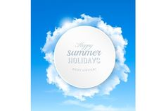 Background With Blue Sky and Clouds. Gradients Photoshop. $4.00
