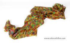 Handbeschilderde zijden sjaals 100-073