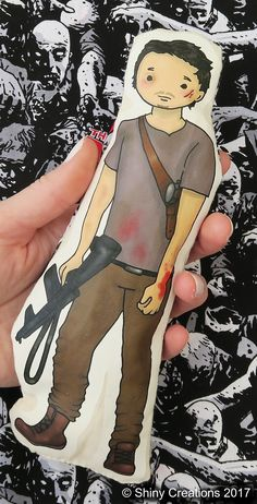 Glenn Rhee- The Walking Dead inspired cartoon, cuddly, fabric, doll, plushie, plush, collectible, TV show, comic book, character - £9.00