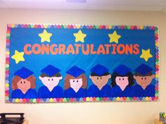 """Congratulations!""+End+of+the+Year+Graduation+Bulletin+Board+Idea"