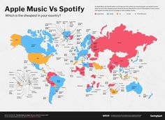 American Dollar, League Table, Finance Blog, African Countries, Music Industry, Apple Music, Infographic, Country, World
