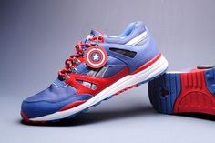 Captain America themed sneaks from Reebok.