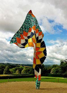 Outdoor sculpture by African artist Yinka Shonibare  Yorkshire Sculpture Park, UK