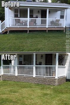 Deck skirting is a material attached to support post and boards below a deck. Get some great ideas for unique deck skirting ventilation treatments in this blog post #VinylDeckSkirting #DeckSkirting #HorizontalDeckSkirting #Deck #Porch #vinyldeckskirting