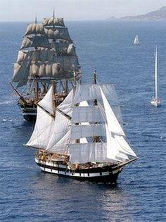 Réunion des derniers grands voiliers marchands. Copyright France 3