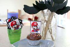 Mario birthday party ideas.  note to self: tell Kristen for Dakota!!!