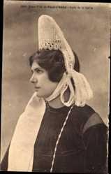 15 Postcard Pont l'Abbe, Jeune Fille, Profile de la Coiffe, Frau in bretonischer Tracht