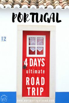 Ultimate Portugal road trip, covering beautiful places in Algarve, on the south, west and centre of the country with Lisbon and old historic towns with traditional Portuguese buildings. Must see places in Portugal and tips for renting car and organising r Places In Portugal, Visit Portugal, Portugal Travel, Spain And Portugal, Portugal Vacation, Portugal Trip, Backpacking Europe, Europe Travel Tips, Travel Guides