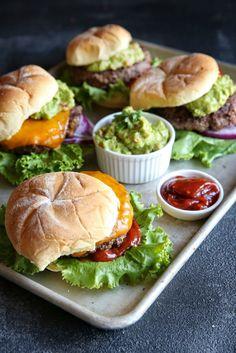 Guacamole Cheeseburger with Chipotle Ketchup  - Delish.com