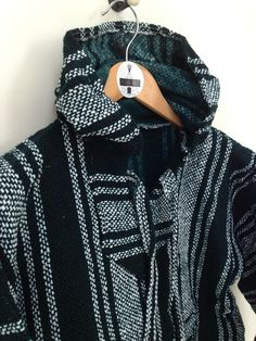 Image of Mexican Jerga Hoodie Green