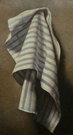 Blue Striped Towel by John Folchi