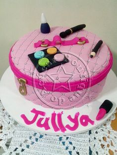 bolo decorado make up/Make Up  Cake
