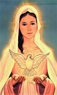 Spouse of the Holy Spirit Jesus Mother, Blessed Mother Mary, Blessed Virgin Mary, Divine Mother, Mother Goddess, Catholic Art, Religious Art, Immaculée Conception, Images Of Mary
