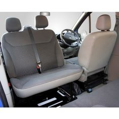 Kiravans Trafic / Vivaro Double seat swivel 2001 - 2014 (UK Right hand drive model) - Trafic/Vivaro/Primastar - Double Seat Swivels - Seating T3 Camper, Sprinter Camper, Camper Life, Sprinter Van Conversion, Camper Van Conversion Diy, Vw Conversions, Mercedes Sprinter, Vauxhall Vivaro Camper, Van 4x4
