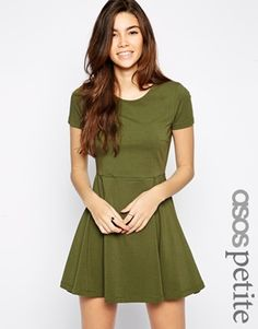 Enlarge ASOS PETITE Skater Dress with Seam Detail and Short Sleeves 20 pounds