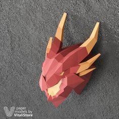 Make your own Deathwing Dragonlord paper sculpture for wall decor. Perfect paper sculpture of Deathwing Dragon will best wall decor art object of your room. Also it will extraordinary gift for party or birthday. Origami Fish, Origami Dragon, 3d Origami, Origami Folding, Origami Owl Fundraiser, Bird Template, Origami Patterns, Christmas Origami, Diy For Men