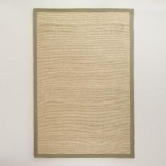 One of my favorite discoveries at WorldMarket.com: Gray Bordered Chunky Woven Jute Rug