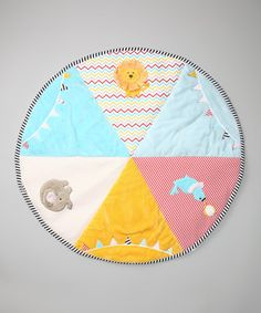 With so much adorable packed into one spot, Baby will never want to leave this play mat. Luckily it's soft and plush, so they can comfortably engage their imaginations with the vibrant appliqués as long as they want.