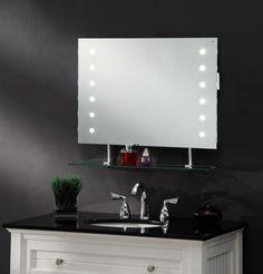 Saxby Omega Led Illuminated Bathroom Mirror With Shelf And Shaver