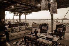The setting for Davison's Camp in Zimbabwe's Hwange National Park is redolent of a bygone safari era...