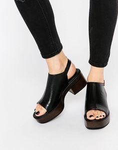 5fd90936a505 Vagabond Noor Black Leather Sandals at asos.com