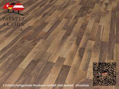 2-Schicht Fertigparkett Nussbaum lebhaft matt lackiert - Einzelstab Format: 490 x 70 x 11 mm 100 M2, Hardwood Floors, Flooring, Texture, Crafts, Wood Floor, Deck Flooring, Humidifier, Wood Floor Tiles