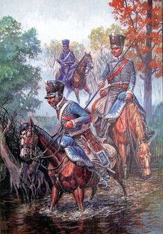 Grodno Hussars scouting. Гусары Лубенского полка