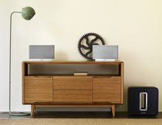Credenza from: http://www.shelterfurniture.ca/collections/media-units/products/currant-media-unit #LoveSonos