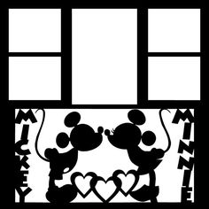 Die Cut Mickey and Minnie 12X12 Frame Overlay by OldPineShop 6.50