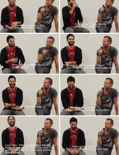 "teen wolf - tyler hoechlin - JR's first impression of Tyler during their first scene together. ""… And that was it, we hit it off. We really did get lucky. Out of all the shows we've done, we truly, truly are all such great friends. And it happened instantly. We didn't warm up to one another, it was immediate on the first time we met. It was just instant."""