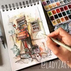 "1,079 Likes, 11 Comments - Katarzyna A. Kozłowska (@lady2art) on Instagram: ""Italy streets 💕✏️ #lady2 #art #artist #amazing #artnerd #artfido #art_spotlight #architecture…"""