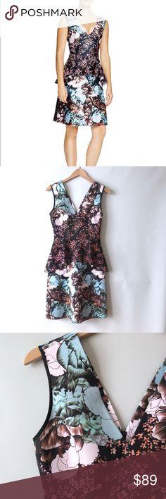"Clover Canyon dress sz M peplum Clover Canyon dress. Excellent as new condition. Chest flat across 16""-17"" waist flat across 13""-14.5"" length 37.5"" Clover Canyon Dresses"