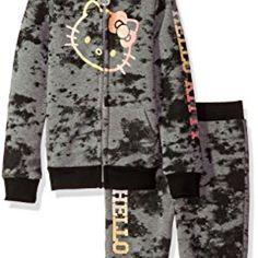 Hello Kitty Little Girls' 2 Piece Hooded Fleece Active Set, Charcoal Gray, 5 //Price: $ & FREE Shipping //     #toys World of Hello Kitty https://worldofhellokitty.com/product/hello-kitty-little-girls-2-piece-hooded-fleece-active-set-charcoal-gray-5/