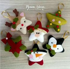 Inspirasi dekorasi natal By: - Felt Christmas Decorations, Felt Christmas Ornaments, Christmas Stockings, Christmas Projects, Felt Crafts, Holiday Crafts, Christmas Sewing, Christmas Crafts, Christmas Makes