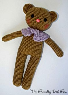 Crochet Amigurumi Bear Pattern - The Friendly Red Fox